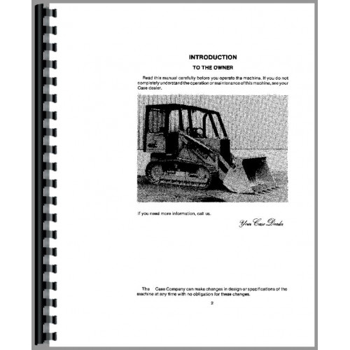 Case 455C Crawler Operators Manual