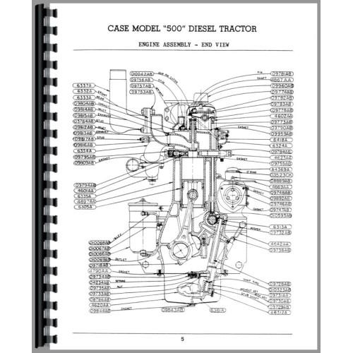 Case 500 Tractor Parts Manual