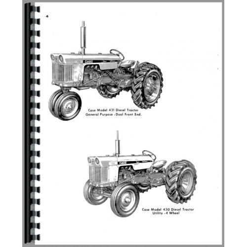 Case 530 Tractor Parts Manual (SN# Up to 8262800) (Gas and