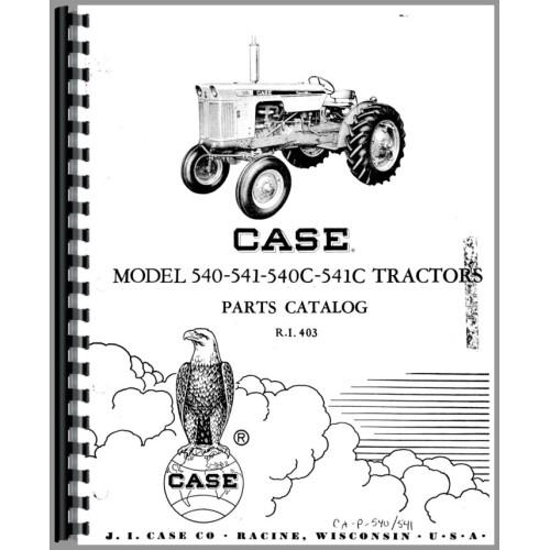 Case 540 Tractor Parts Manual
