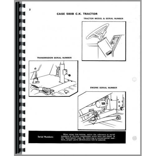 Case 580B Industrial Tractor Parts Manual (Shuttle