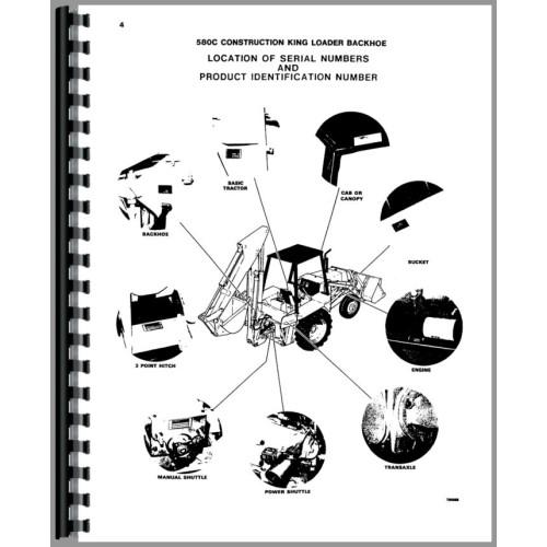 Case 580C Tractor Loader Backhoe Parts Manual