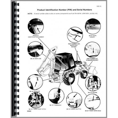 Case 580E Tractor Loader Backhoe Service Manual