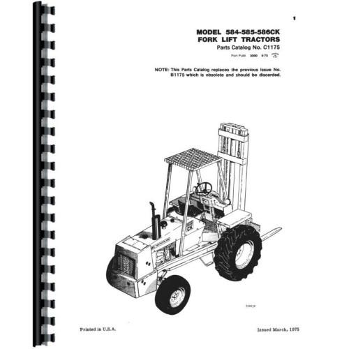 Case 584C Forklift Parts Manual