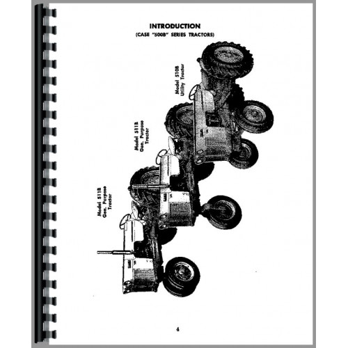 Case 611B Tractor Operators Manual