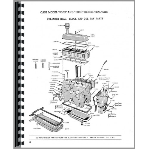 Case 500B Tractor Parts Manual (Series)