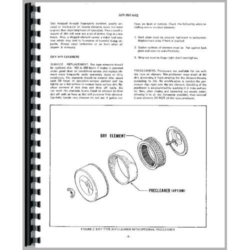 Case 224 Lawn & Garden Tractor Service Manual (SN# 9738335