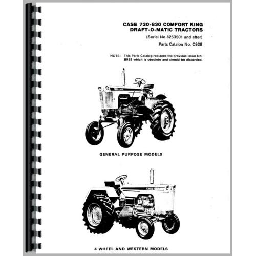 Case 841 Tractor Parts Manual