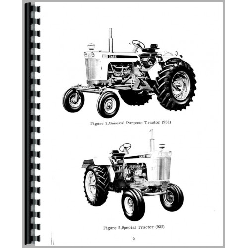 Case 930 Tractor Operators Manual (SN# 8229001 and Up