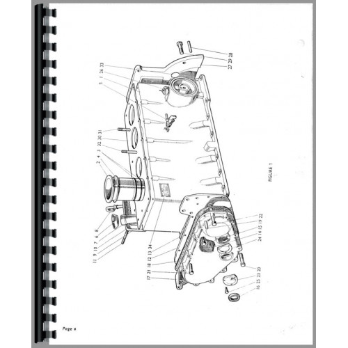 Case 880 Tractor Parts Manual (SN# 0-521000)