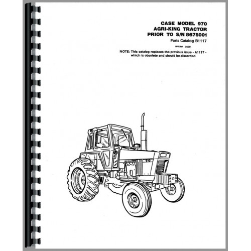 Case 970 Tractor Parts Manual (SN# to 8675001)