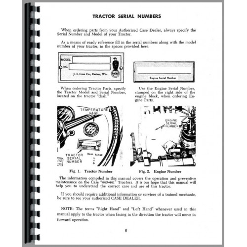 Case 440 Tractor Operators Manual (Wheel Tractor)