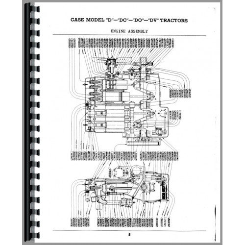 Case DC Tractor Parts Manual (SN# 4511449-5600000) (w/o