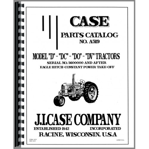 Case DC Tractor Parts Manual (SN# 5600000 and Up) (5600000+)