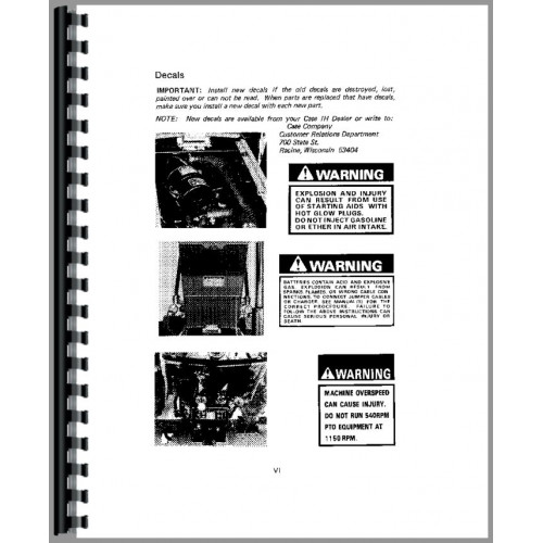 Case-IH 275 Tractor Operators Manual