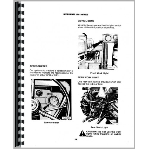 International Harvester 884 Tractor Operators Manual (1979