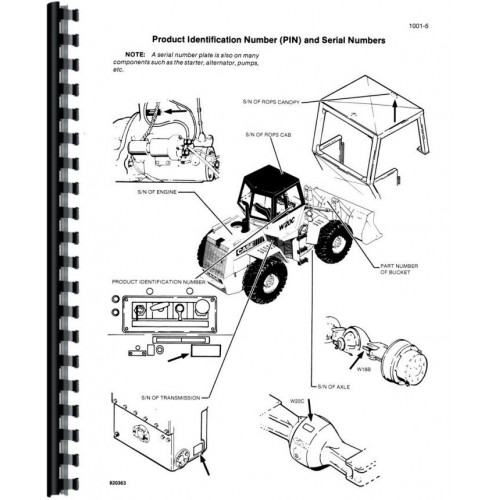 Case W20C Wheel Loader Service Manual (Includes 3 Volumes)