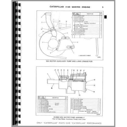 Caterpillar 3160 Engine Parts Manual (SN# 68P1)