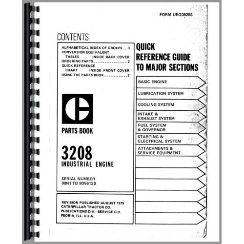 Caterpillar 3208 Engine Parts Manual (SN# 90N1-90N6120)