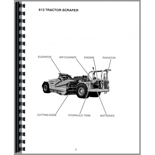Caterpillar 613 Tractor Scraper Operators Manual (SN# 71M1