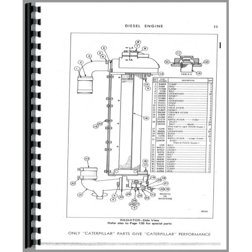 Caterpillar 920 Wheel Loader Parts Manual (SN# 62K1 to