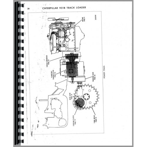 Caterpillar 931B Traxcavator Parts Manual (SN# 29Y1 and Up)