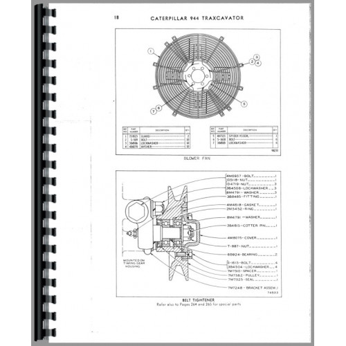 Caterpillar 944 Wheel Loader Parts Manual (SN# 43A1587