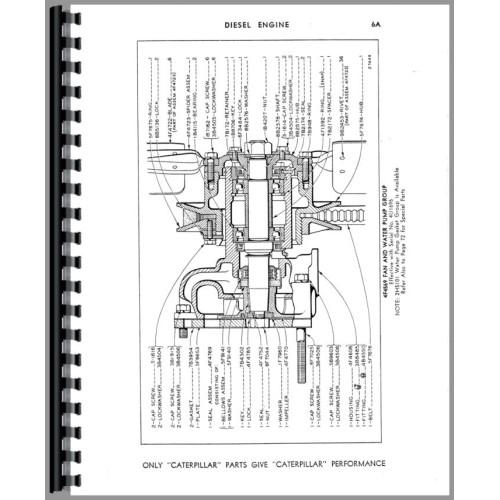 Caterpillar D2 Crawler Parts Manual (SN# 4U-4U6372)