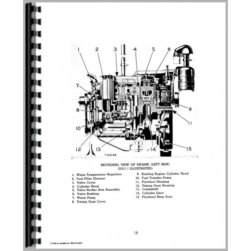 Caterpillar D2 Crawler Engine Service Manual (SN# 4U1 and