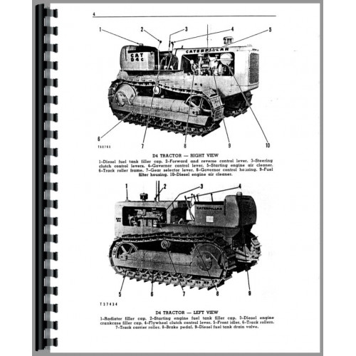 Caterpillar D4 Crawler Operators Manual (SN# 24A1, 39A1