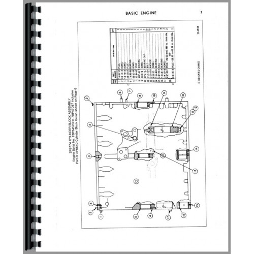 Caterpillar D4E Crawler Parts Manual (SN# 27X1-27X917