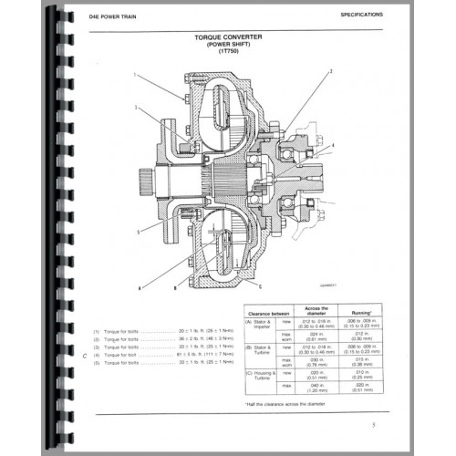 Caterpillar D4E Crawler Service Manual (SN# 27X, SN# 28X1