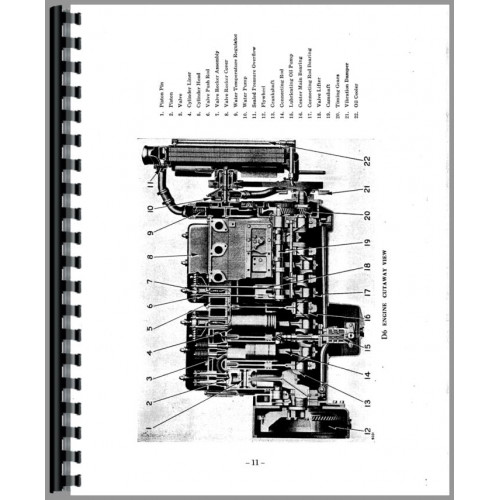 Caterpillar 12 Grader Engine Service Manual (SN# 9K1 and