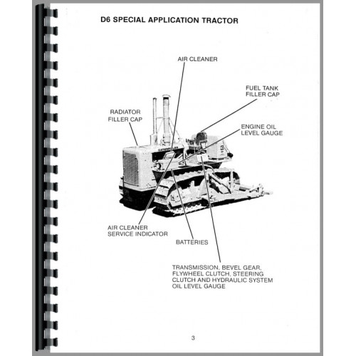 Caterpillar D5 Crawler Operators Manual (SN# 98J1 and Up