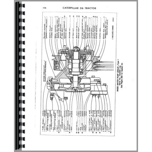 Caterpillar D6C Crawler Parts Manual (SN# 74A1 and Up) (74A1+)