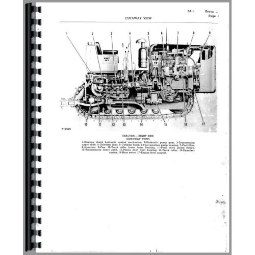 Caterpillar D7 Crawler Service Manual (SN# 17A1 and Up