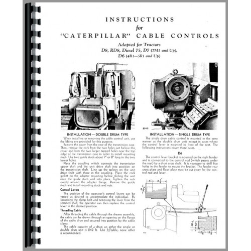 Caterpillar D7E Crawler Operators Manual (SN# 48A and Up)