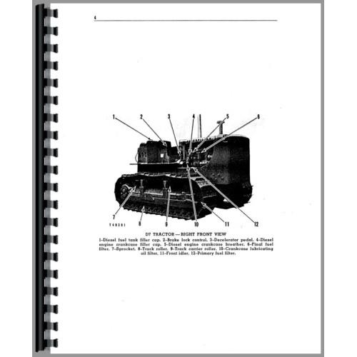 Caterpillar D7E Crawler Operators Manual (SN# 48A and Up)