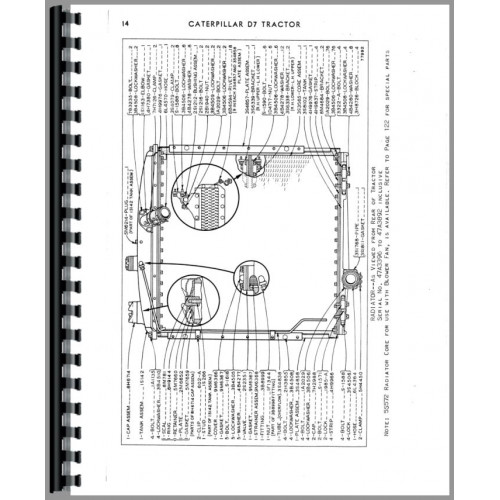 Caterpillar D7E Crawler Parts Manual (SN# 47A3396-47A5841)