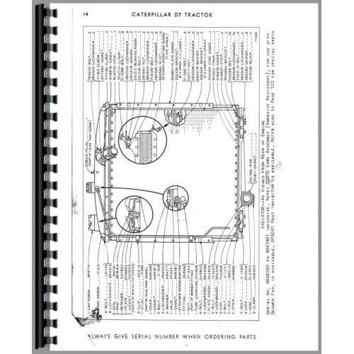Caterpillar D7E Crawler Parts Manual (SN# 48A6393 and Up