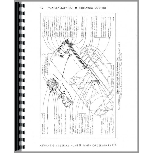Caterpillar D4 Crawler #44 Hydraulic Control Attachment
