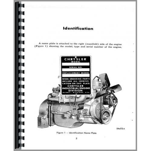 Chrysler 33 Engine Operators Manual