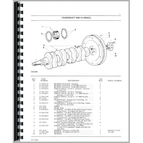 Minneapolis Moline G450 Tractor Parts Manual