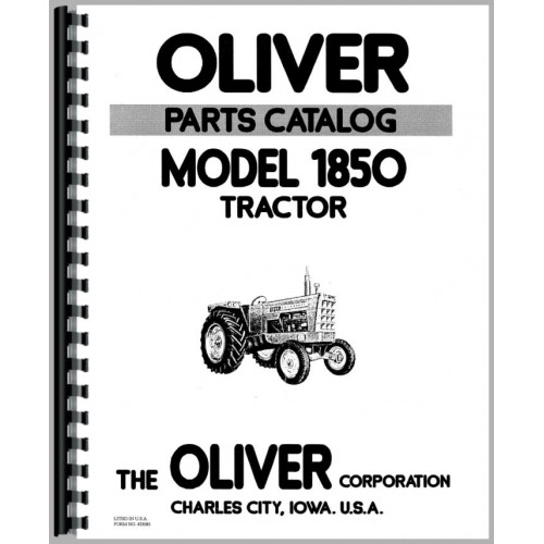 Cockshutt 1850 Tractor Parts Manual