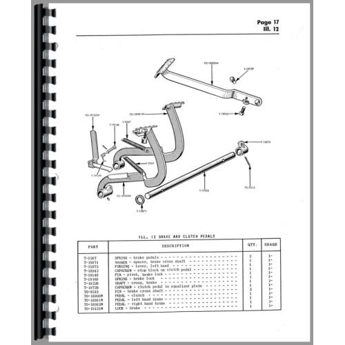 Cockshutt 540 Tractor Parts Manual