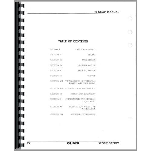 Cockshutt 70 Tractor Service Manual