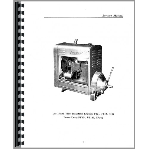 Continental Engines F162 Engine Service Manual