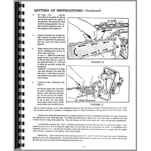 David Bradley 917-60003 Chainsaw Operators & Parts Manual