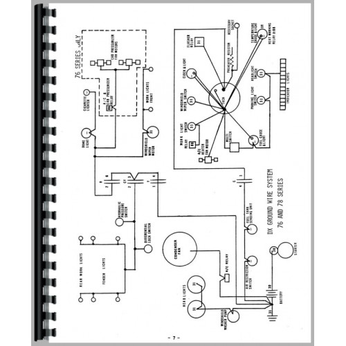 Deutz (Allis) DX160 Tractor Wiring Diagram Service Manual
