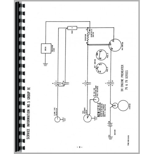 Deutz (Allis) D5506 Tractor Wiring Diagram Service Manual